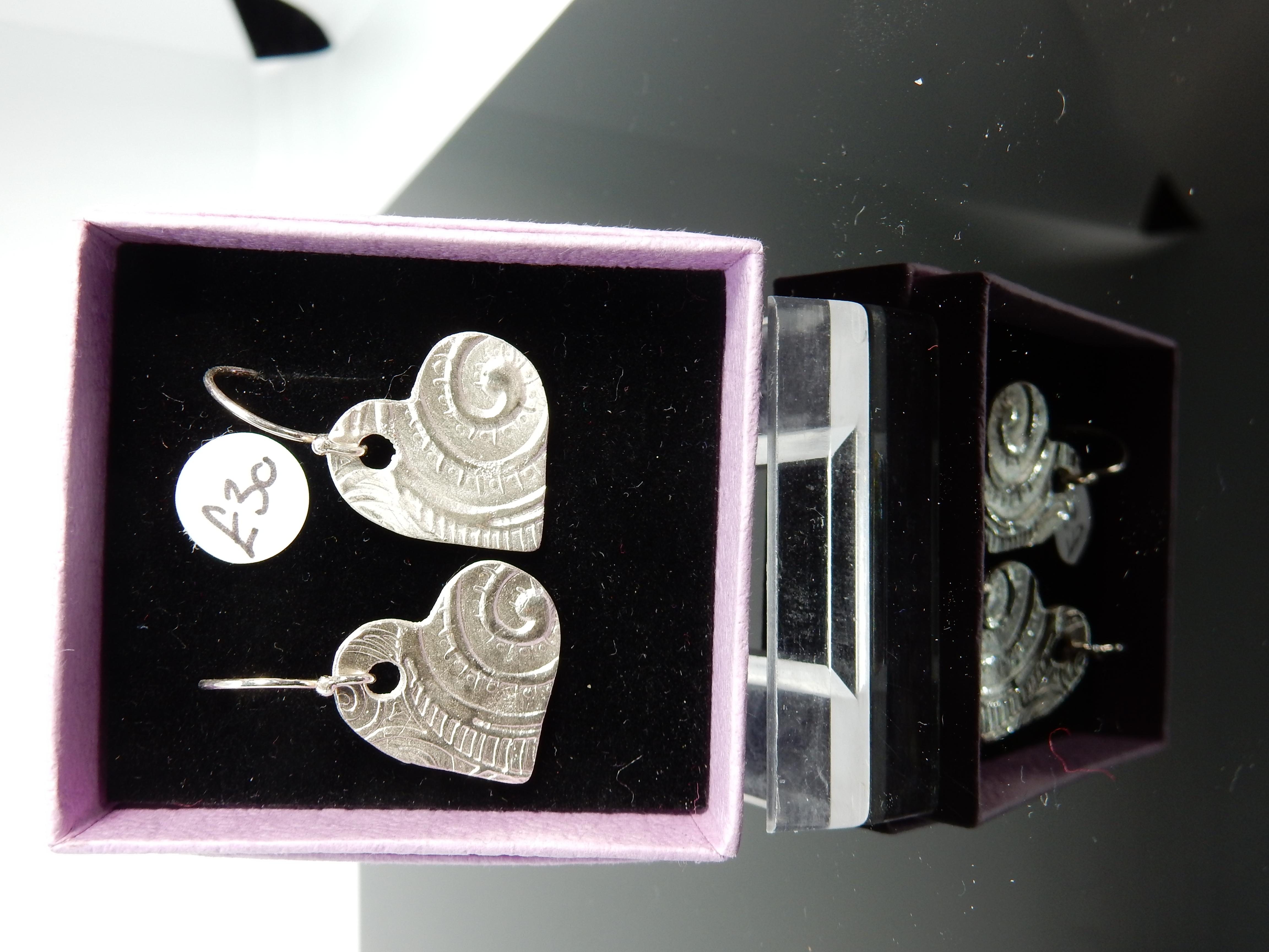 Silver clay earrings