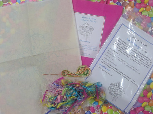 Inspirational Packs :Embriodery Gerbera