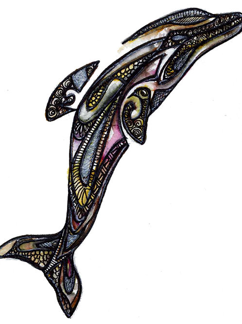 Zentangle Dolphin