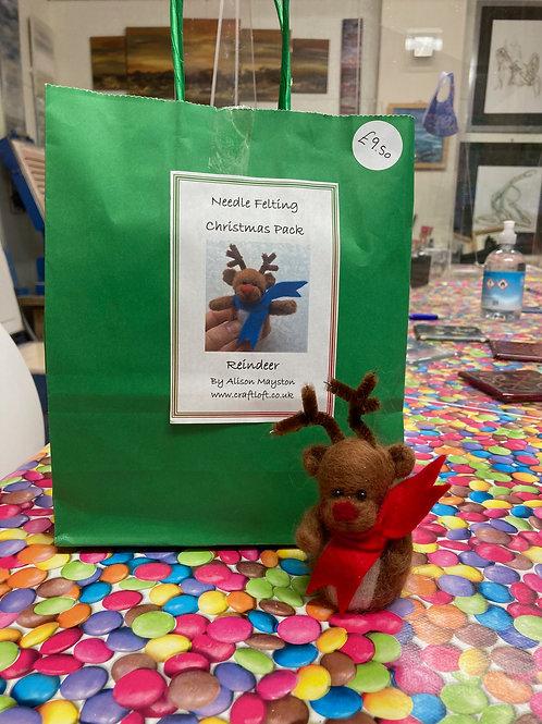 Needle Felting Reindeer