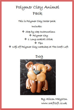 Polymer Clay Pack Dog