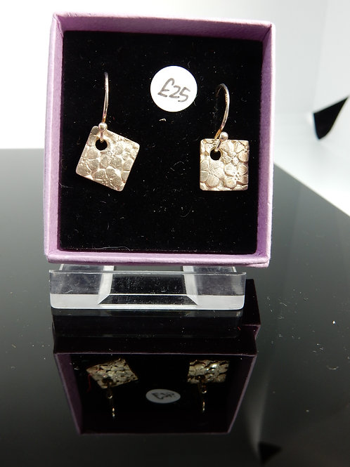Silver Clay Daisies Earrings