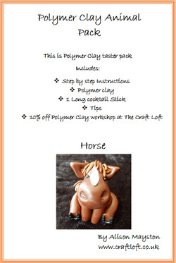 Polymer Clay Pack Horse