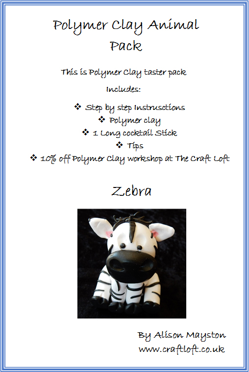 Polymer Clay Pack Zebra