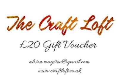 Craft Loft £20 Gift Voucher