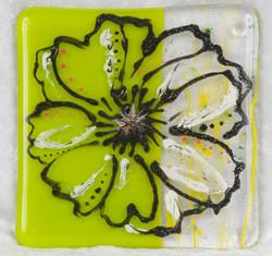 Green Flower Coaster
