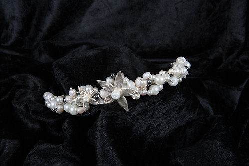 Silver Clay and Mother of Pearl Tiara