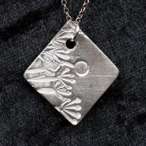Silver Clay Fields Pendant