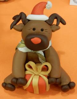 reindeer and present