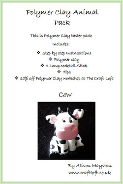 Polymer Clay Pack Cow