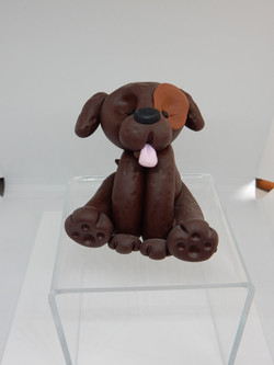 Polymer clay dog