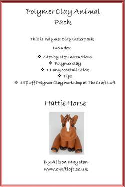 Hattie Horse Polymer clay pack