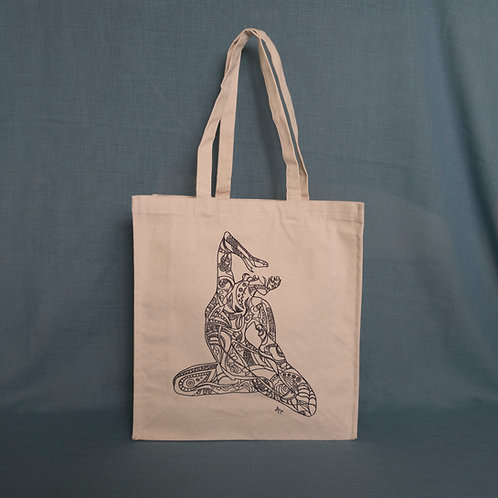 Rhythm of Time Black N White Canvas Bag