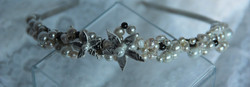 Silver Clay Flower Tiara