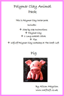 Polymer Clay Pack Pig