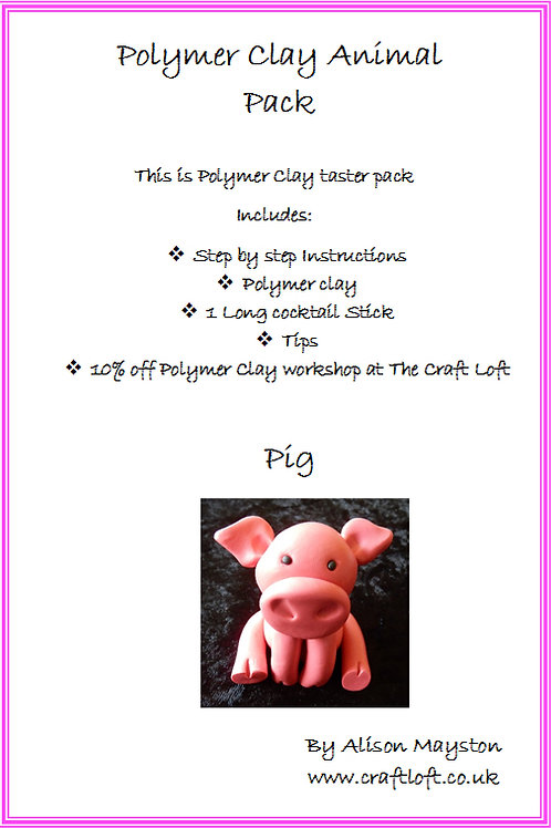 Polymer Clay Pack : Pig