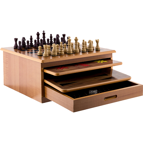 10 in 1 Wooden Chess Board Games