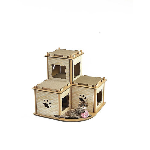 Cat Cardboard House Tree Tower