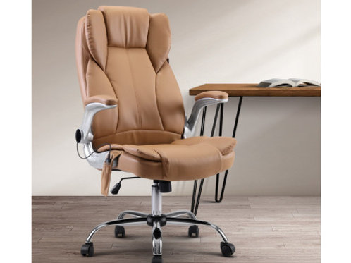 Computer Desk Chair 8 Point Vibration Espresso