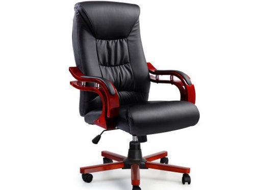 Wood Computer Chairs Leather Seat Sheridan