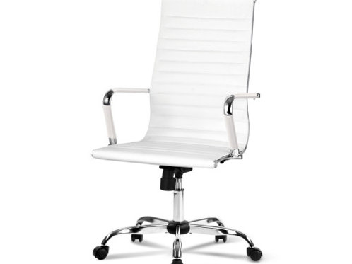 Desk Chairs Home Work Study White High Back