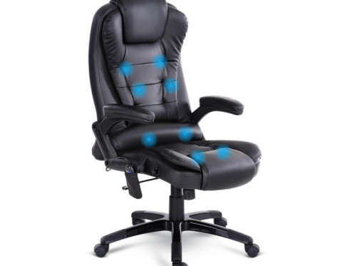 8 Point PU Leather Reclining Massage Chair