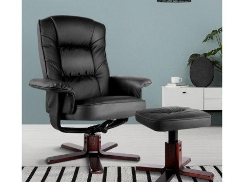 Artiss PU Leather Wood Armchair Recliner