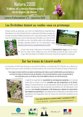 Lettre Info Site N2000 CoteauxMaurs 2020
