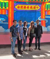 Dan with Kan granddaughter and family.jp