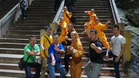 Batu cave with shaolin monks.JPG