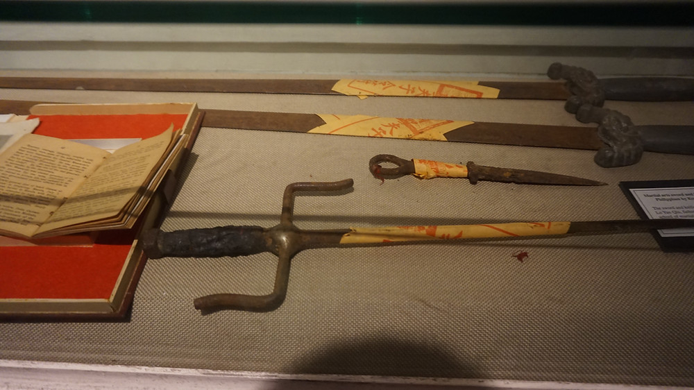 Historical weapon of Dr. Lo Yan Chiu preserved at the Tsinoy Museum