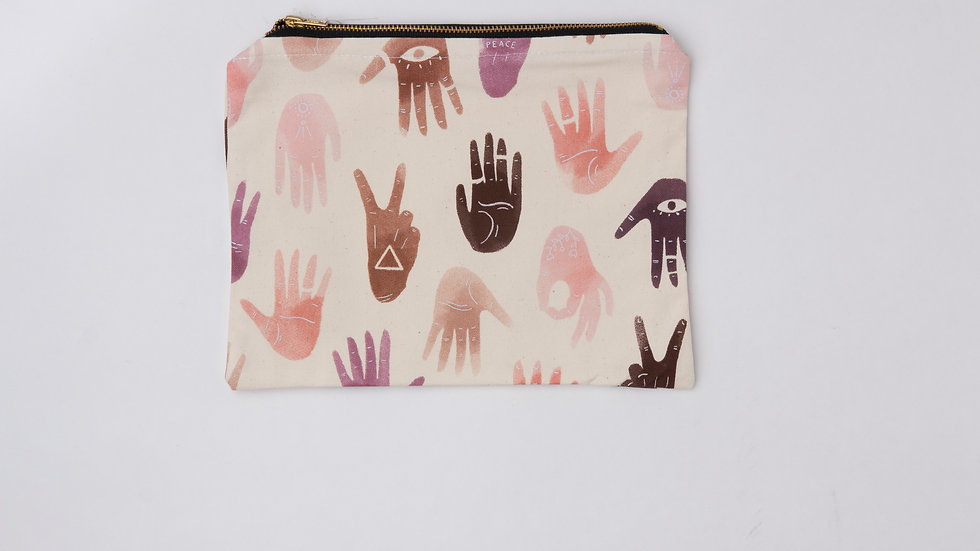 Fabric Pouch - Magic hands (L)