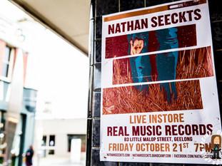 NATHAN SEECKTS @ REAL MUSIC VINYL & CD'S, GEELONG