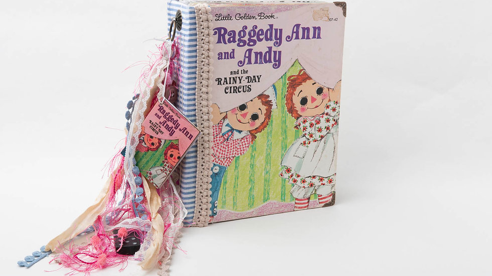 Raggedy Ann and Andy Little Golden Book Junk Journal {LARGE}