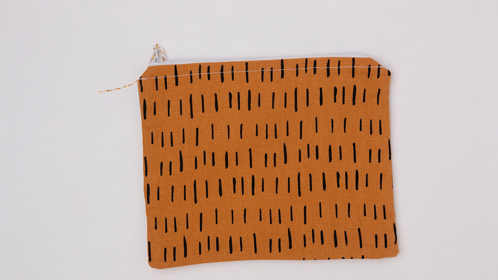 Fabric Pouch - Mustard Dash (L)