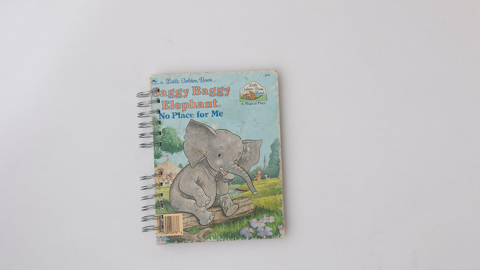Saggy Baggy Elephant No Place For Me - LGB Notebook Blank
