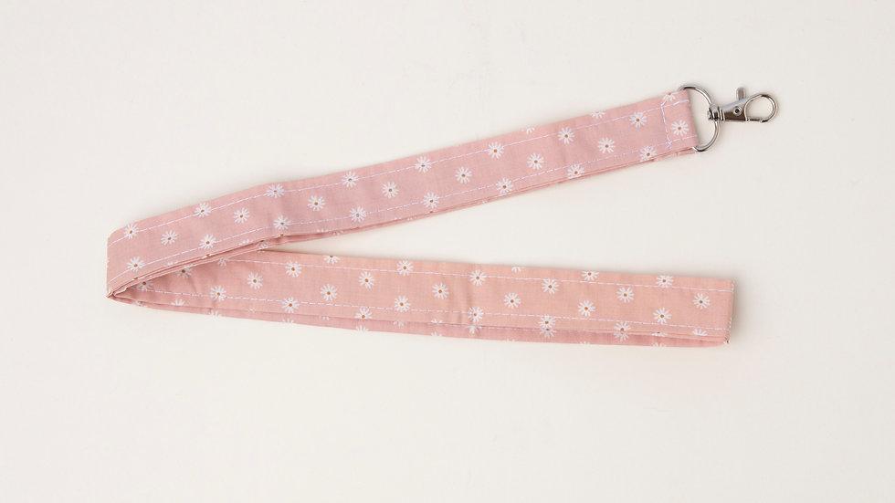 Lanyard - Pink daises