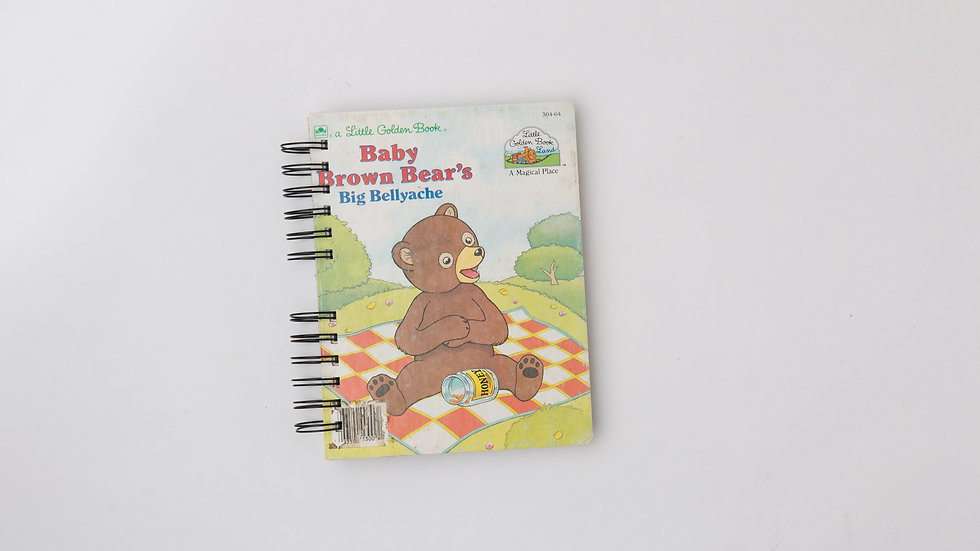 Baby Brown Bear's Big Bellyache - LGB NOTEBOOK (LINED)