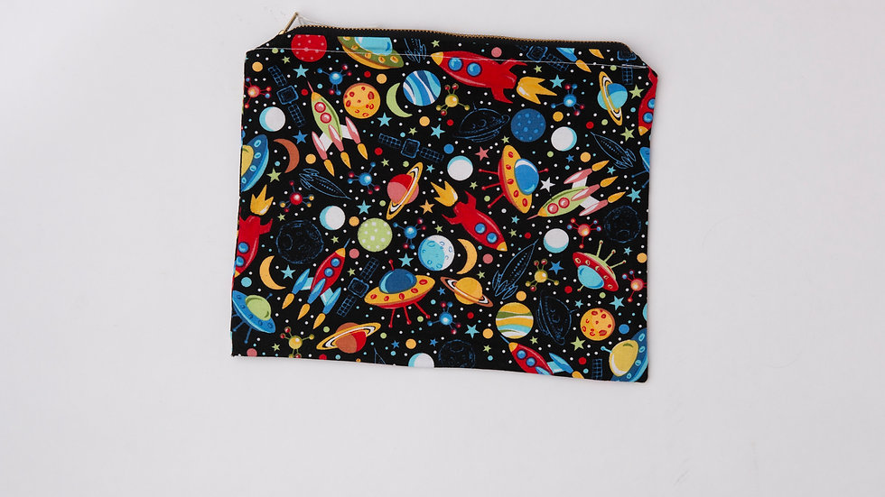 Fabric Pouch - outer space (L)