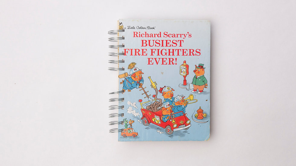 Richard Scarry's Busiest fire fighters ever!  - LGB Notebook Blank