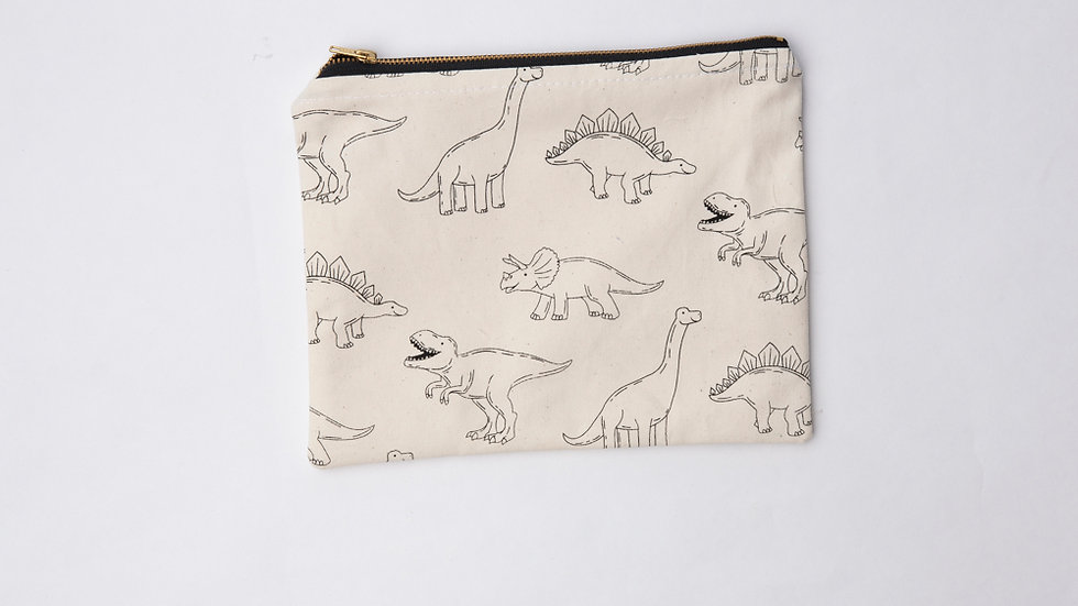 Fabric Pouch - Dino (L)
