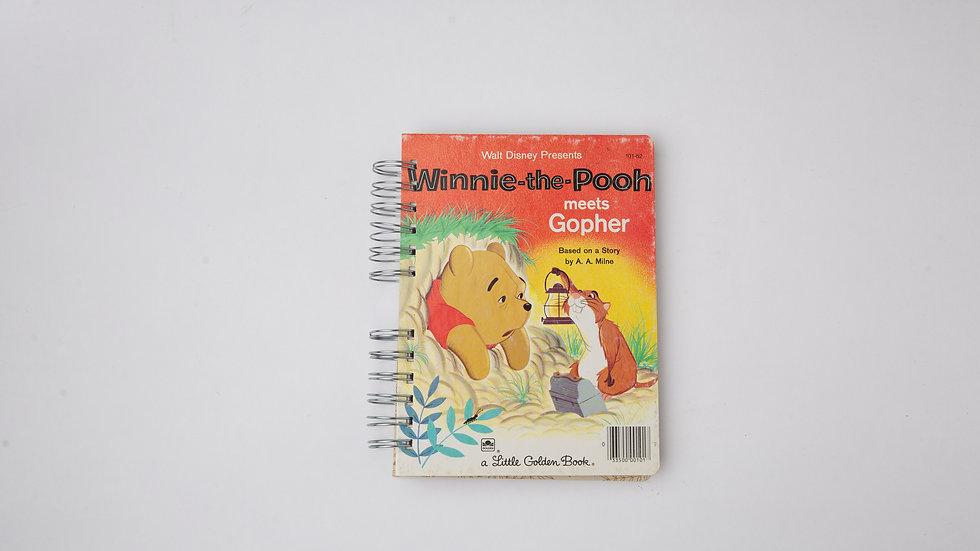Winnie the Pooh meets Gopher - LGB Notebook Blank