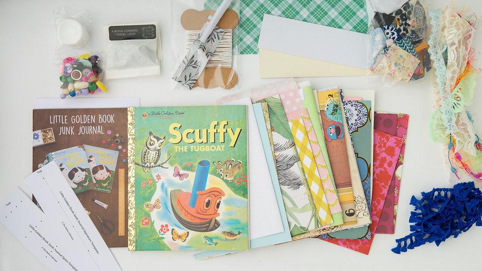 SCUFFY  - LITTLE GOLDEN BOOK JUNK JOURNAL KIT
