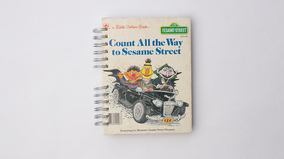 Count all the way to sesame street  - LGB Notebook Blank