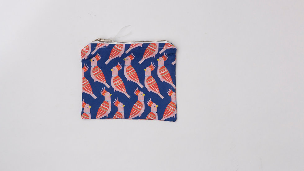 Fabric Pouch - Cockatoos (M)