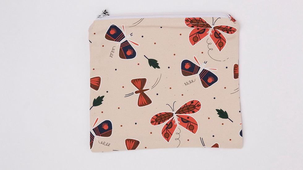 Fabric Pouch - Moths (M)