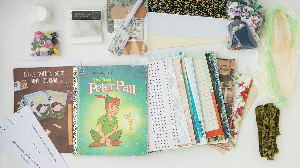 PETER PAN - LITTLE GOLDEN BOOK JUNK JOURNAL KIT