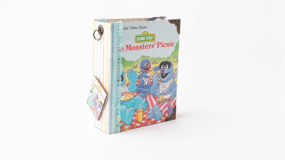 The Monster' picnic -  Little Golden Book Junk Journal {SMALL}