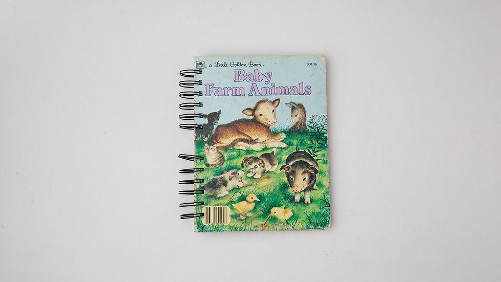 Baby Farm Animals - LGB NOTEBOOK (LINED)