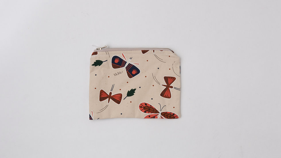 Fabric Pouch - Moths (M)